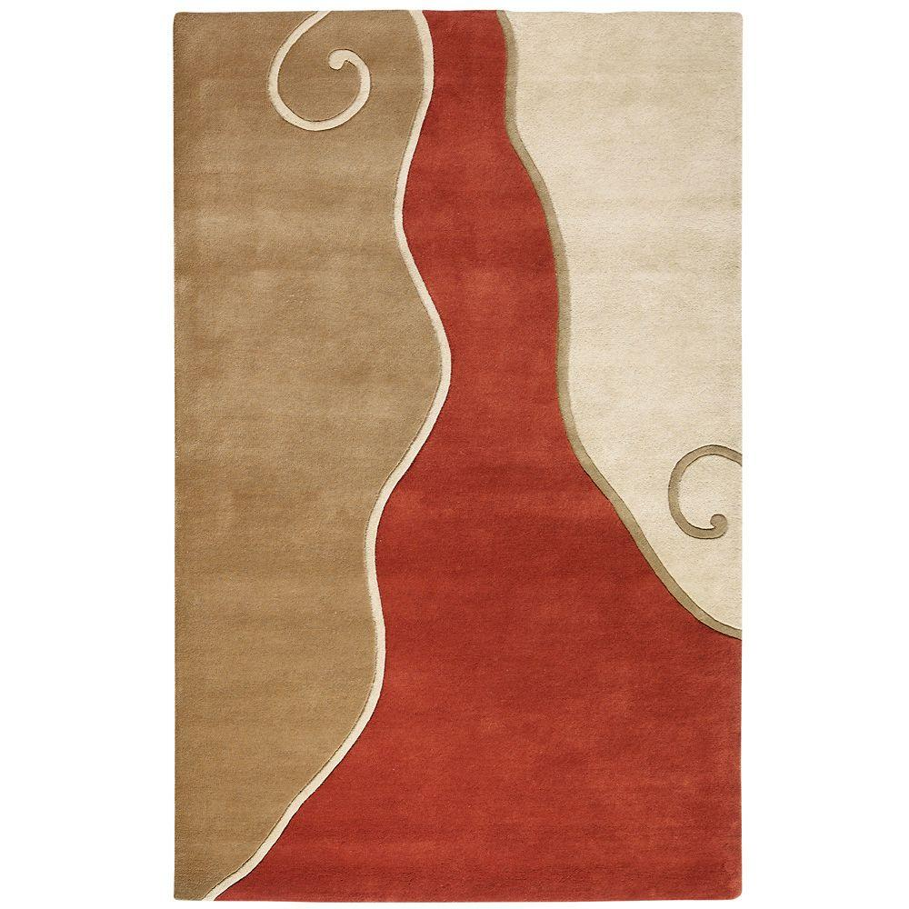 Home Decorators Collection Divani Terra and Beige 7 ft. 6 in. x 9 ft. 6 in. Area Rug