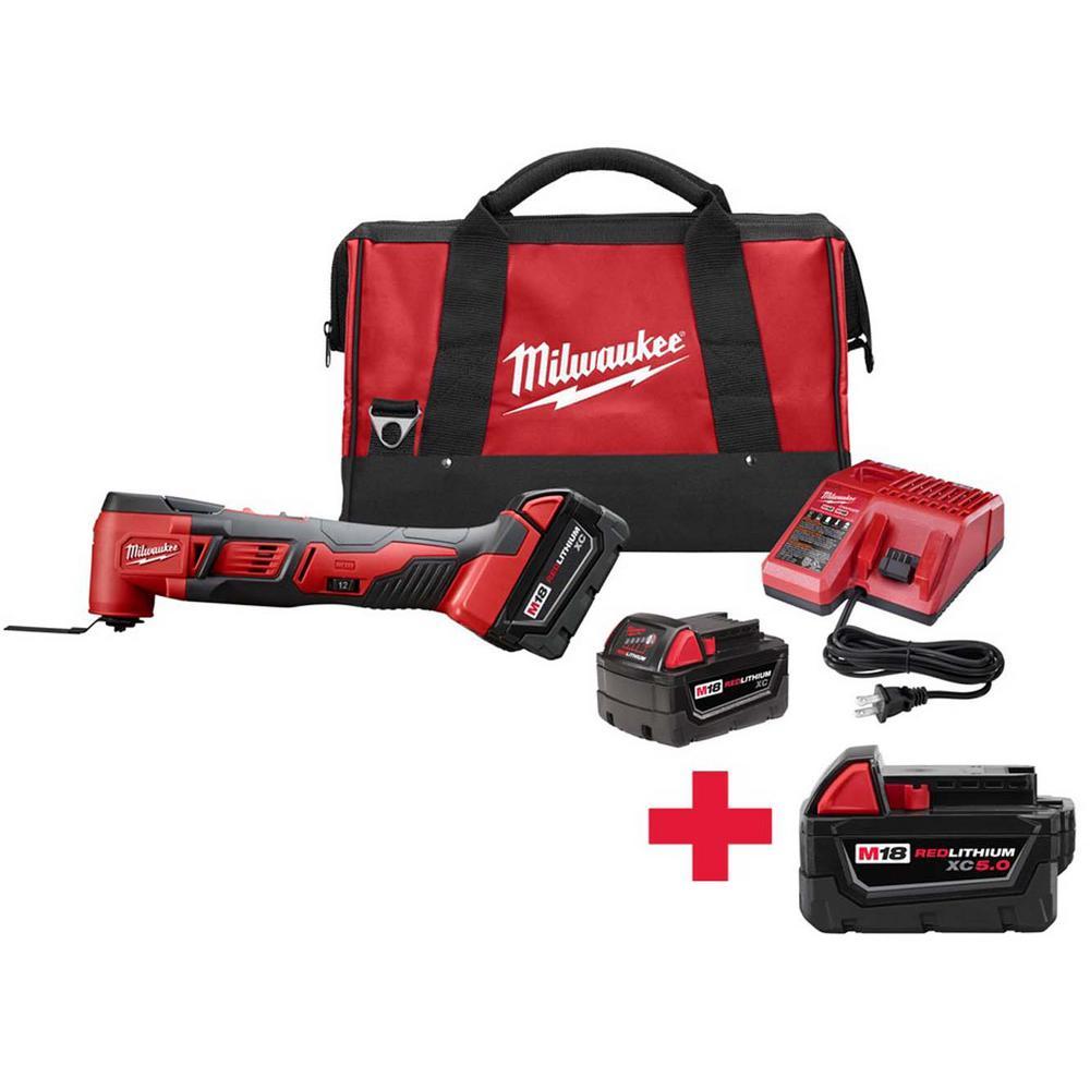 M18 18-Volt Lithium-Ion Cordless Oscillating Multi-Tool Kit W/ Free M18 5.0Ah Battery