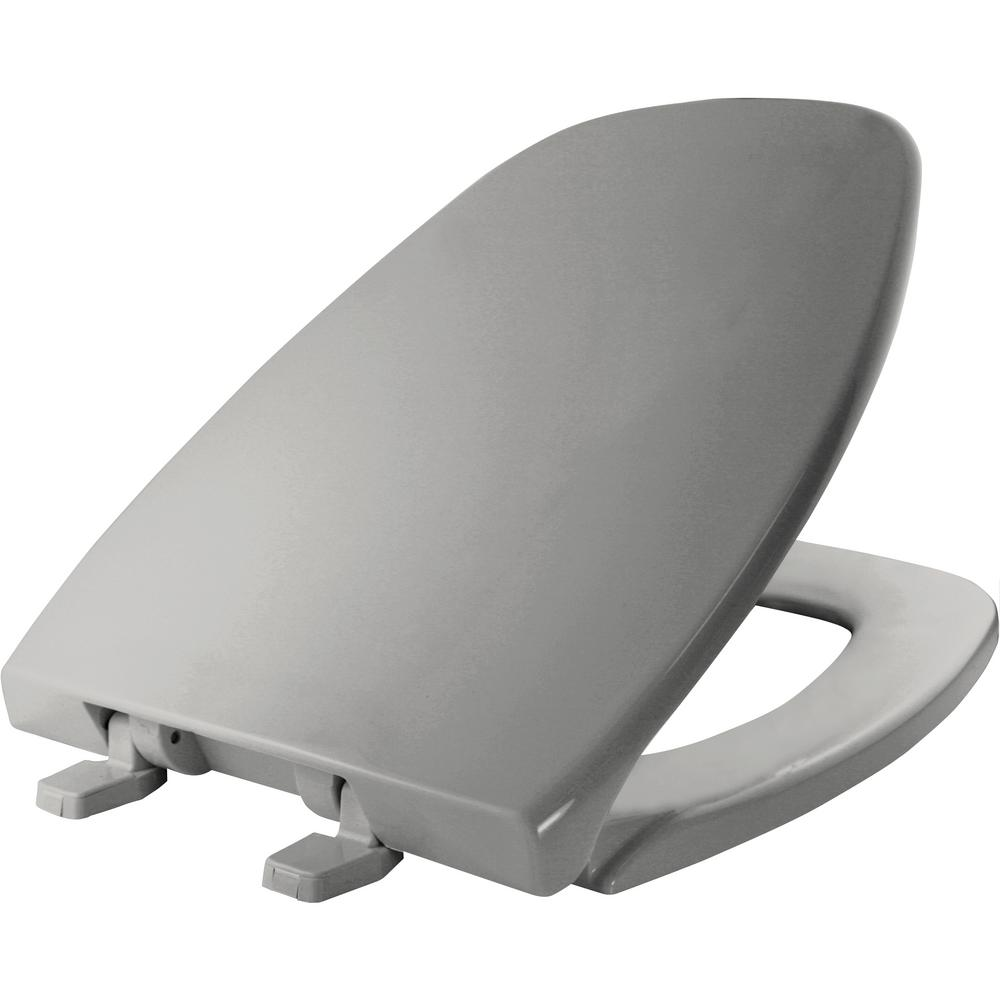 Bemis Elongated Closed Front Toilet Seat In Silver 124 0205 162