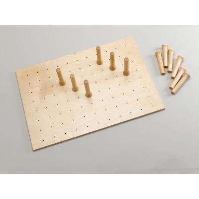 6.625 in. H x 39.25 in. W x 21.25 in. D Large Cabinet Drawer Peg System Insert with Wood Pegs