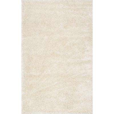 Millicent Shaggy Ivory 4 ft. x 6 ft. Area Rug