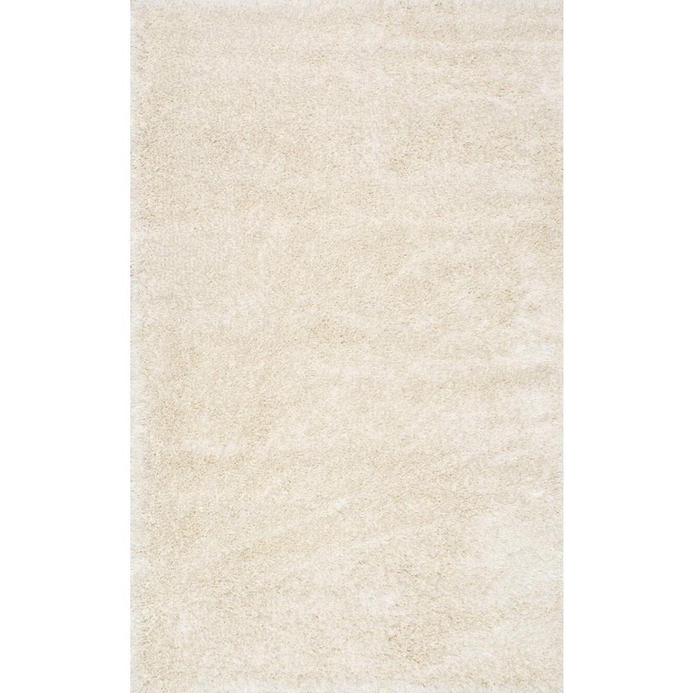 nuLOOM Millicent Shaggy Ivory 5 ft. 3 in. x 7 ft. 7 in. A...