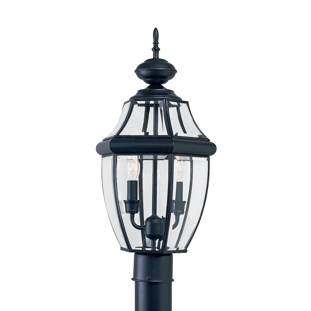 Sea gull lighting lancaster 2 light outdoor black post top