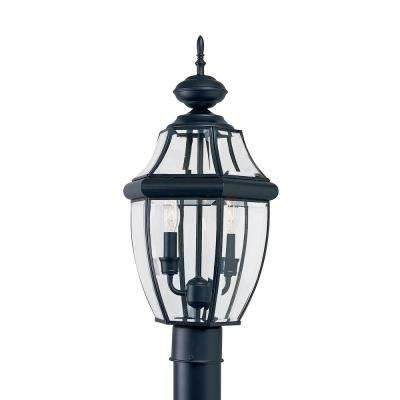 Lancaster 2-Light Outdoor Black Post Top