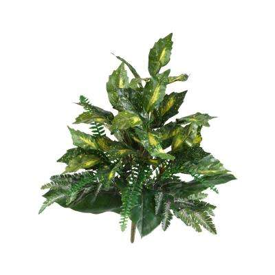 Indoor 25 in. Mixed Greens Artificial Plant (2-Set)