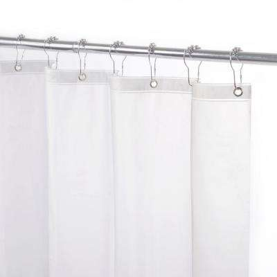 70 in. x 72 in. Medium Weight Peva Shower Liner in Frosted