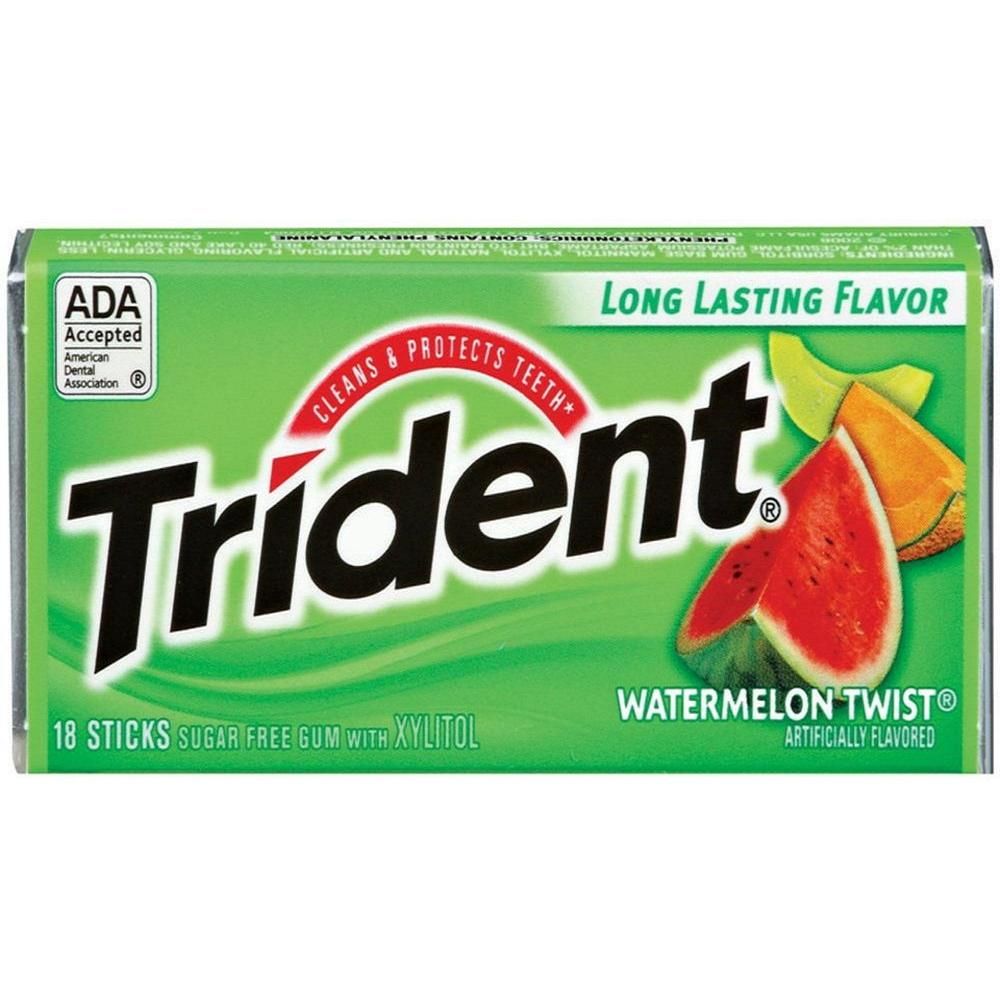 Trident Watermelon Twist Gum 18 pcs. (12-Pack)