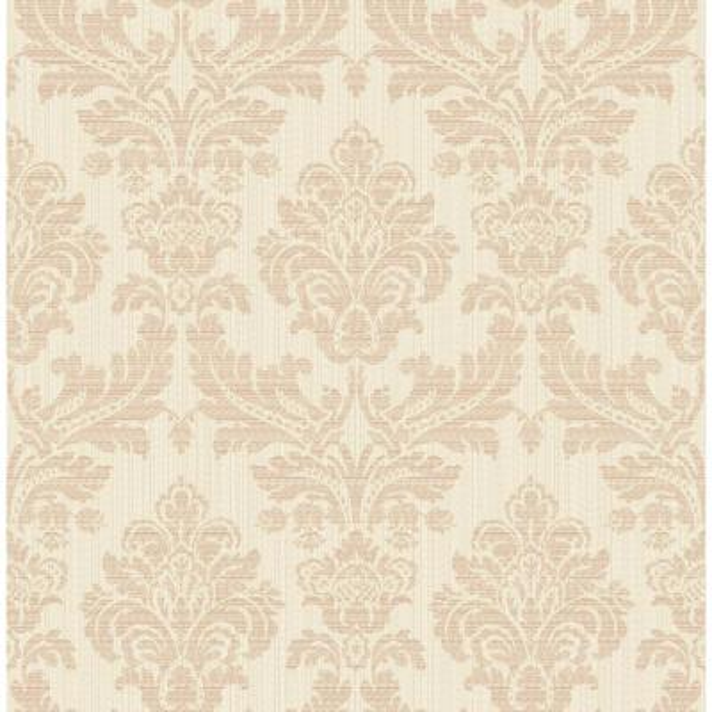 Piers Rose Gold Texture Damask Wallpaper