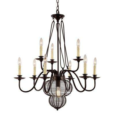 10-Light Black Chandelier