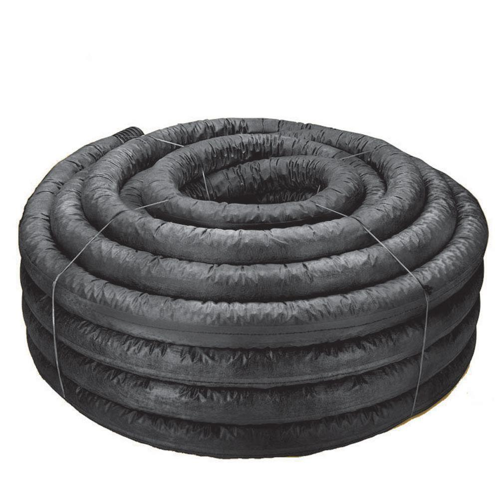 Advanced Drainage Systems 6 in  x 100 ft  Corex Drain Pipe Perforated with  Sock