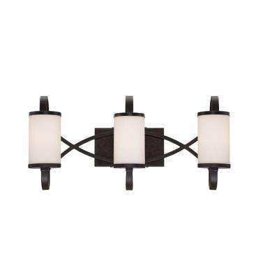 Bellemeade 3-Light Artisan Interior Incandescent Bath Vanity Light
