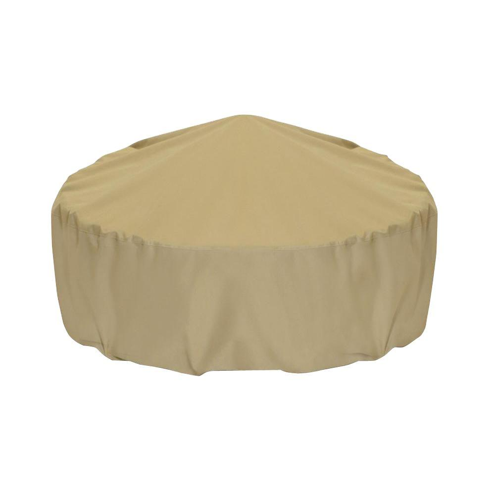 Two Dogs Designs 48 in. Fire Pit Cover in Khaki