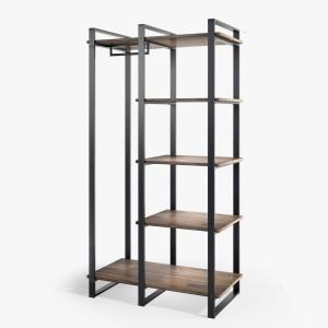 Zinus Brock 64 in Brown 4-Shelf Etagere Bookcase