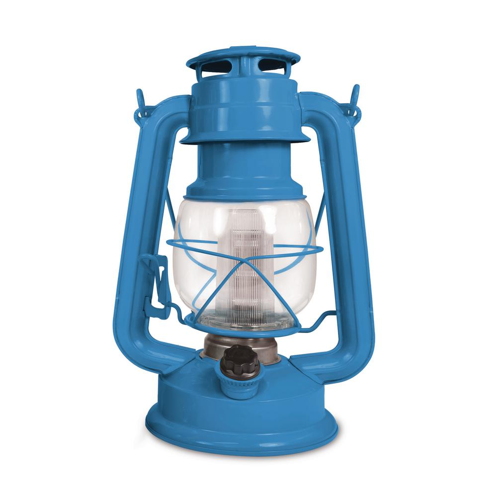 150 Lumen Vintage Santorini Blue Battery Operated 12 Led Lantern