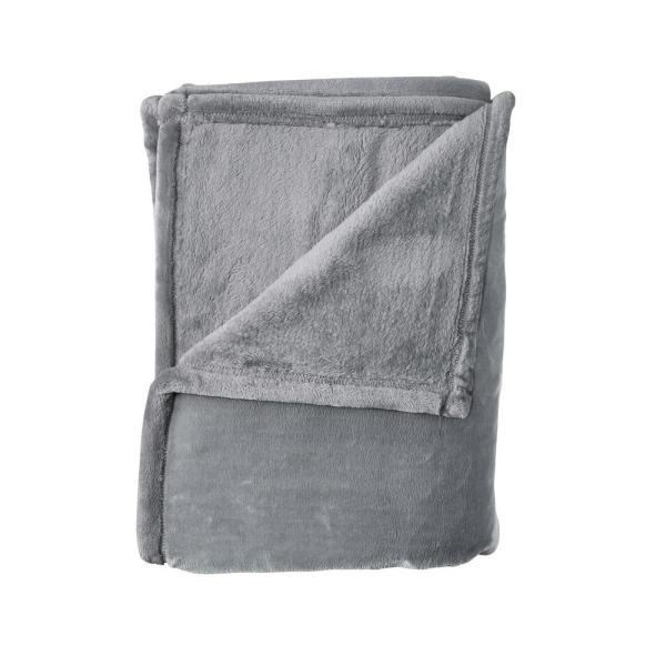 Company Plush Pebble Gray Solid Full/Queen Blanket