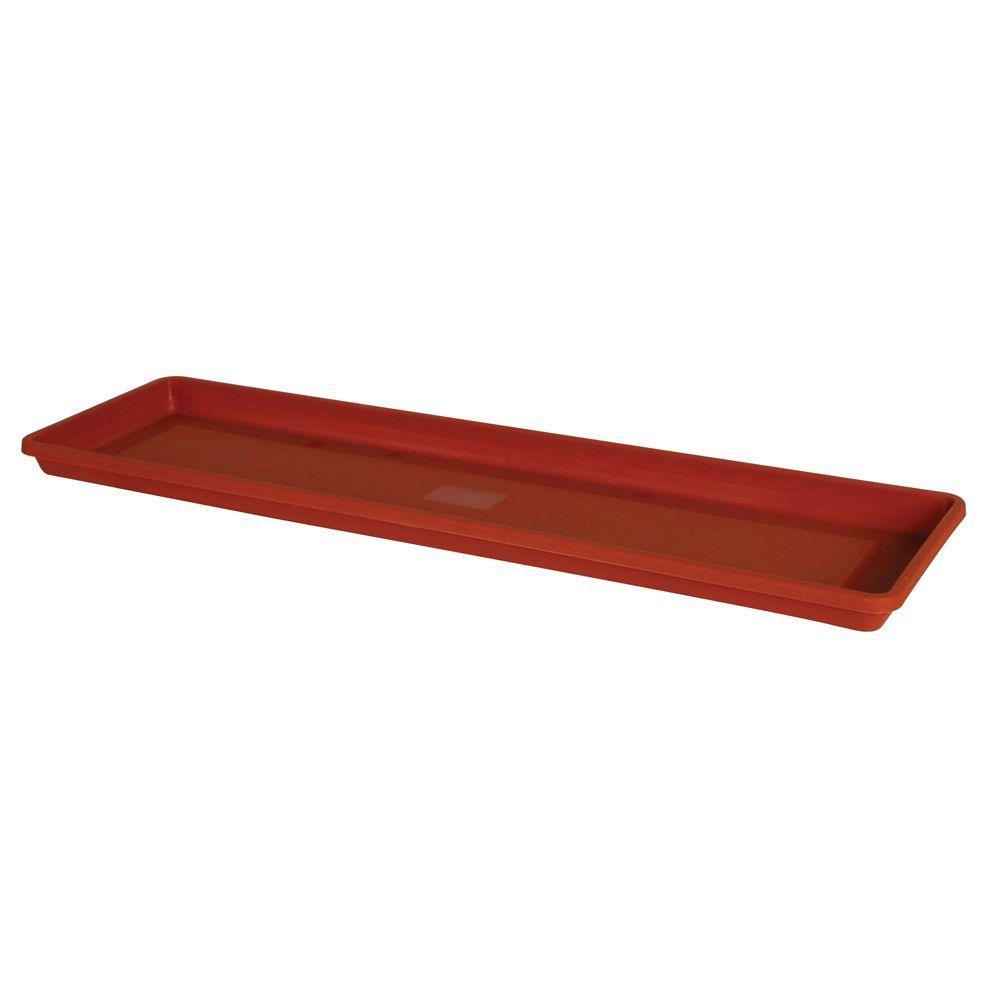 Fiskars 23 In X 1 04 In Terra Plastic Window Box Tray Case Of 10