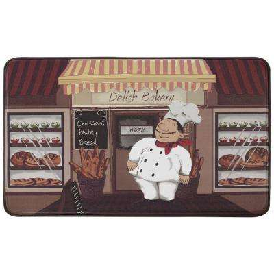 Happy Chef 18 in. x 30 in. Faux Leather Comfort Kitchen Mat
