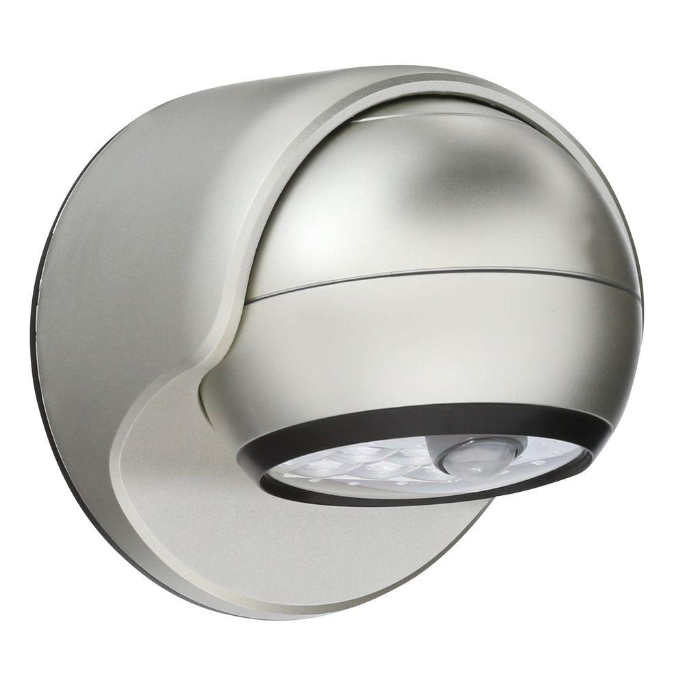 Attractive Light It! Silver 6 LED Wireless Motion Activated Weatherproof Porch Light