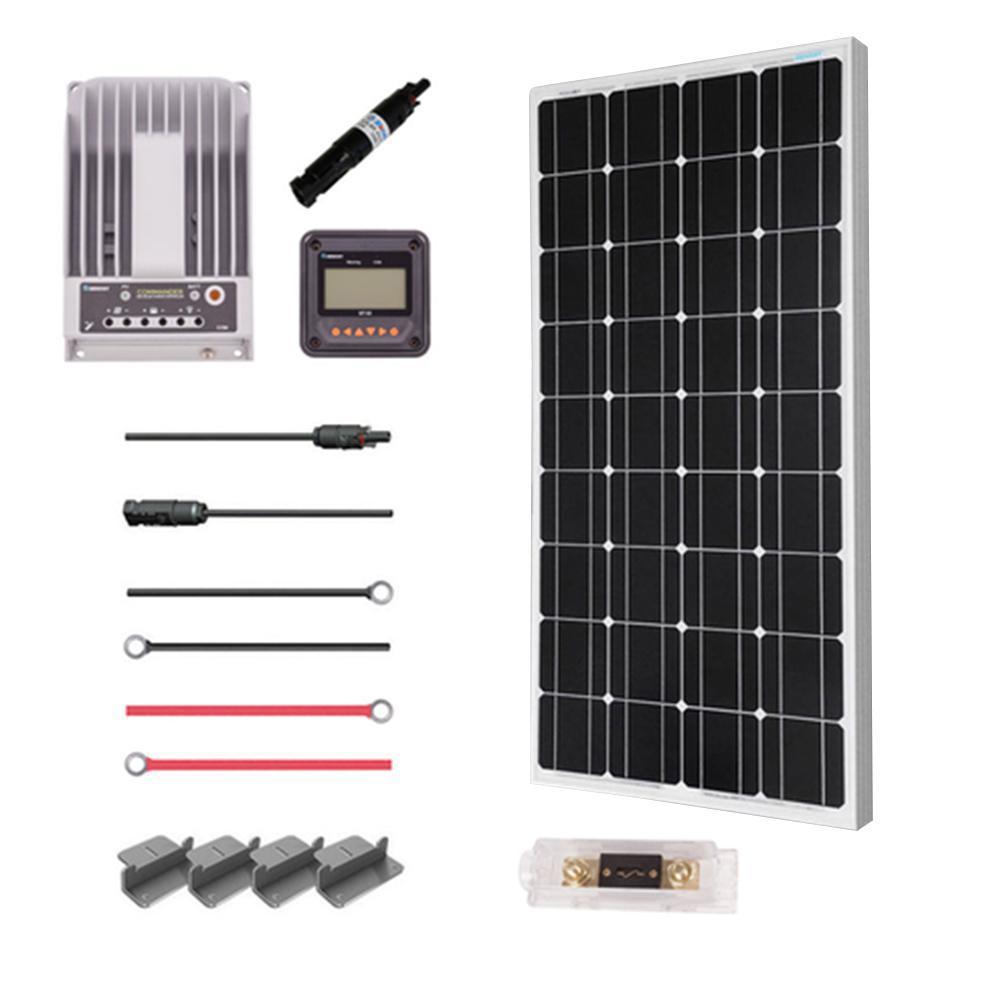100-Watt 12-Volt Mono Solar Premium Kit for Off-Grid Solar System