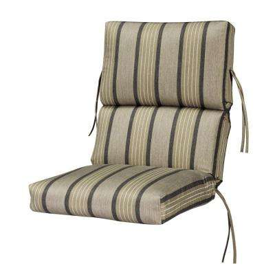 sunbrella pebble outdoor dining chair cushion