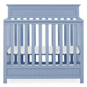 Harbor 4-in-1 Dusty Blue Convertible Mini Crib