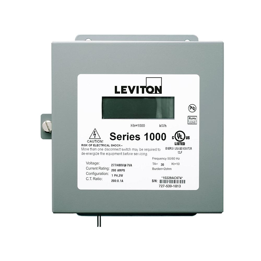 Leviton Sub Meter Series 1000 Dual Element Indoor Surface Mount Enclosure,  Gray
