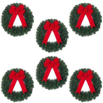 Christmas Wreaths - Christmas Greenery - The Home Depot