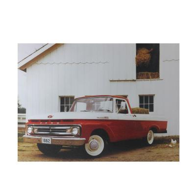 12 in. x 15.75 in. LED Lighted 1962 Ford F-100 Truck Canvas Wall Art