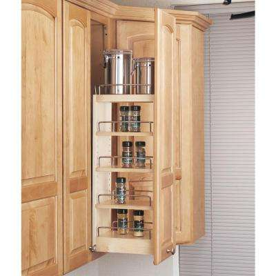 26.25 in. H x 8 in. W x 10.75 in. D Pull-Out Wood Wall Cabinet Organizer