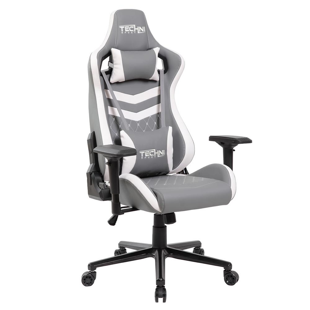 Techni Sport TS-83 Grey and White Ergonomic Executive Gaming Chair on ergonomic computer chair, leather chair white, ergonomic chairs for home, stools chair white, ergonomic chairs with lumbar support, office desk white, swivel chair white, rocking chair white, office furniture white, grand high back chair white, ergonomic task chair white, home office white, conference table white, ergonomic chairs for manufacturing, desk chair white,