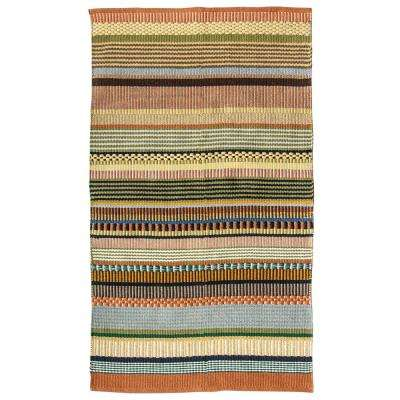 Multicolor 3 ft. x 5 ft. Striped Area Rug