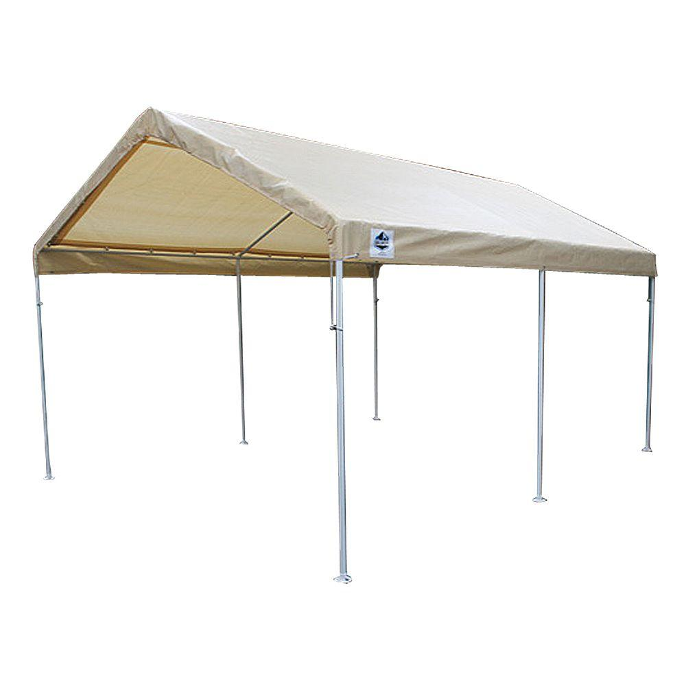 King Canopy 10 ft  W x 20 ft  D 6-Leg Universal Canopy in Tan