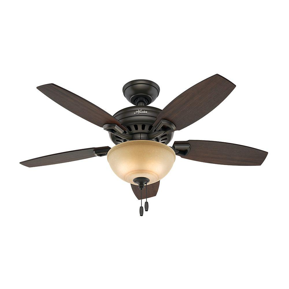 ceiling fan 44 inch. Hunter Holden 44 In. Indoor New Bronze Ceiling Fan With Light Kit-51064 - The Home Depot Inch L