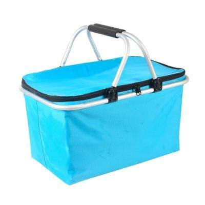 10-Gal Outdoor Folding Waterproof Picnic Ice Bag Light Blue Storage Box