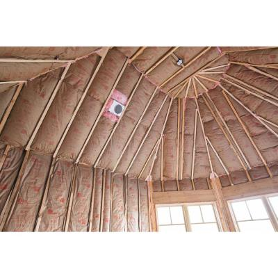 R-38 EcoTouch PINK Cathedral Ceiling Kraft Faced Fiberglass Insulation Batt 23-3/4 in. x 48 in. (8-Bags)