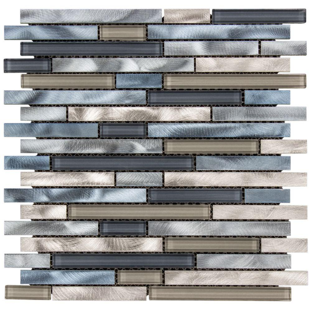 Jeffrey court out to sea 125 in x 12 in x 8 mm glassmetal jeffrey court out to sea 125 in x 12 in x 8 mm glassmetal mosaic wall tile 99582 the home depot dailygadgetfo Choice Image