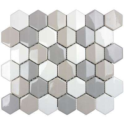 Constantine Tegyr 11.75 in. x 10.125 in. x 6.35 mm Multicolor Glass Mesh-Mounted Mosaic Tile (8.27 sq. ft. / case)