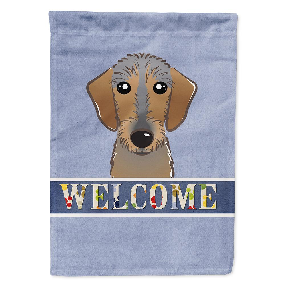 28 in. x 40 in. Polyester Wirehaired Dachshund Welcome Fl...