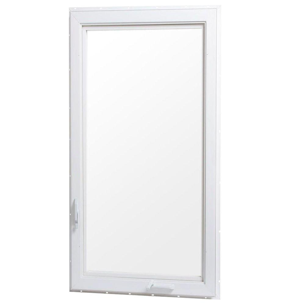TAFCO WINDOWS 24 in. x 48 in. Right-Hand Vinyl Casement Window with Screen - White
