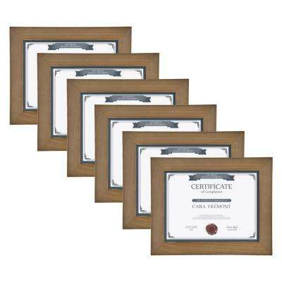 Museum 8.5. in in. x 11 in. Rustic Brown Wood Picture Frame (Set of 4)