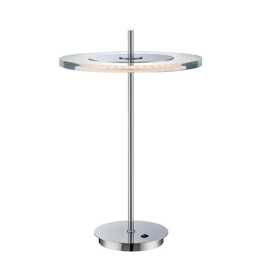 18 in. Chrome Table Lamp with Clear Acrylic