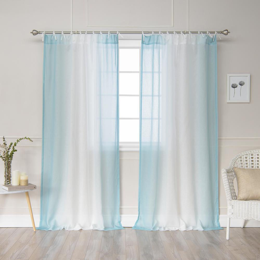 Burnout Sheer Curtains Tie Top Sheer Curtains Tie Burnout Sheer