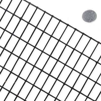 2 ft. x 100 ft. 16-Gauge Black Vinyl Coated Welded Wire Mesh Size 0.5 in. x 1 in.
