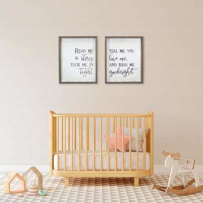 """Read Me A Story"" Duo by KDM Framed Printed Wall Art"