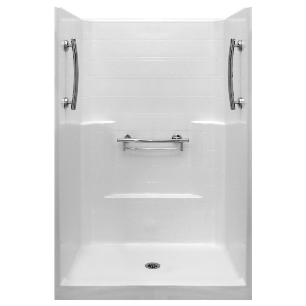 4 piece fiberglass shower enclosures plumbing fixtures - Fiberglass shower enclosures ...