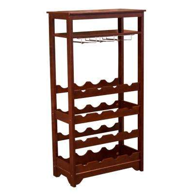 16-Bottle Espresso MDF Wine Rack