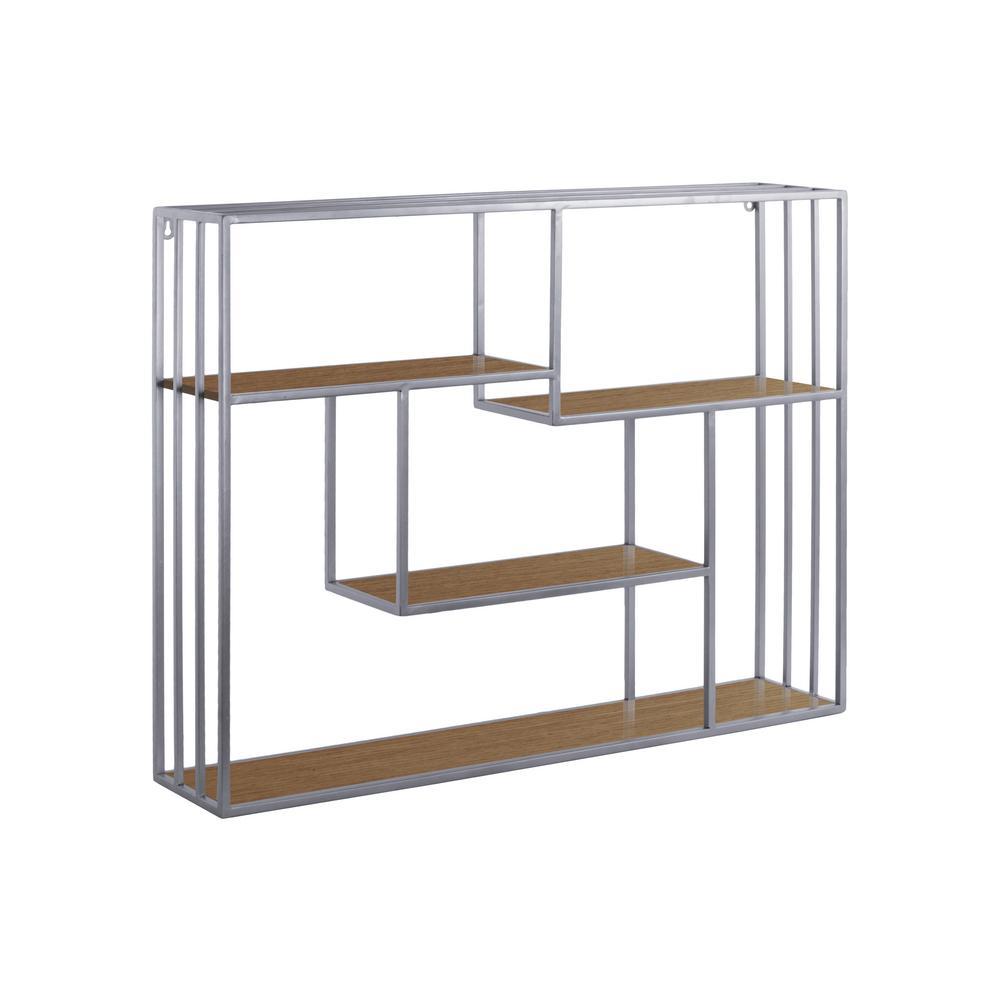 31.5 in. x 23.75 in. 1 Metal Wall Shelf