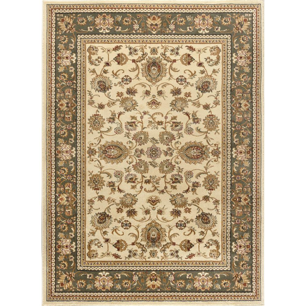 Traditional Area Rugs: Tayse Rugs Sensation Beige 8 Ft. X 10 Ft. Traditional Area