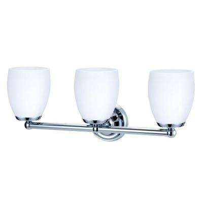 Designer II 3-Light Chrome Sconce
