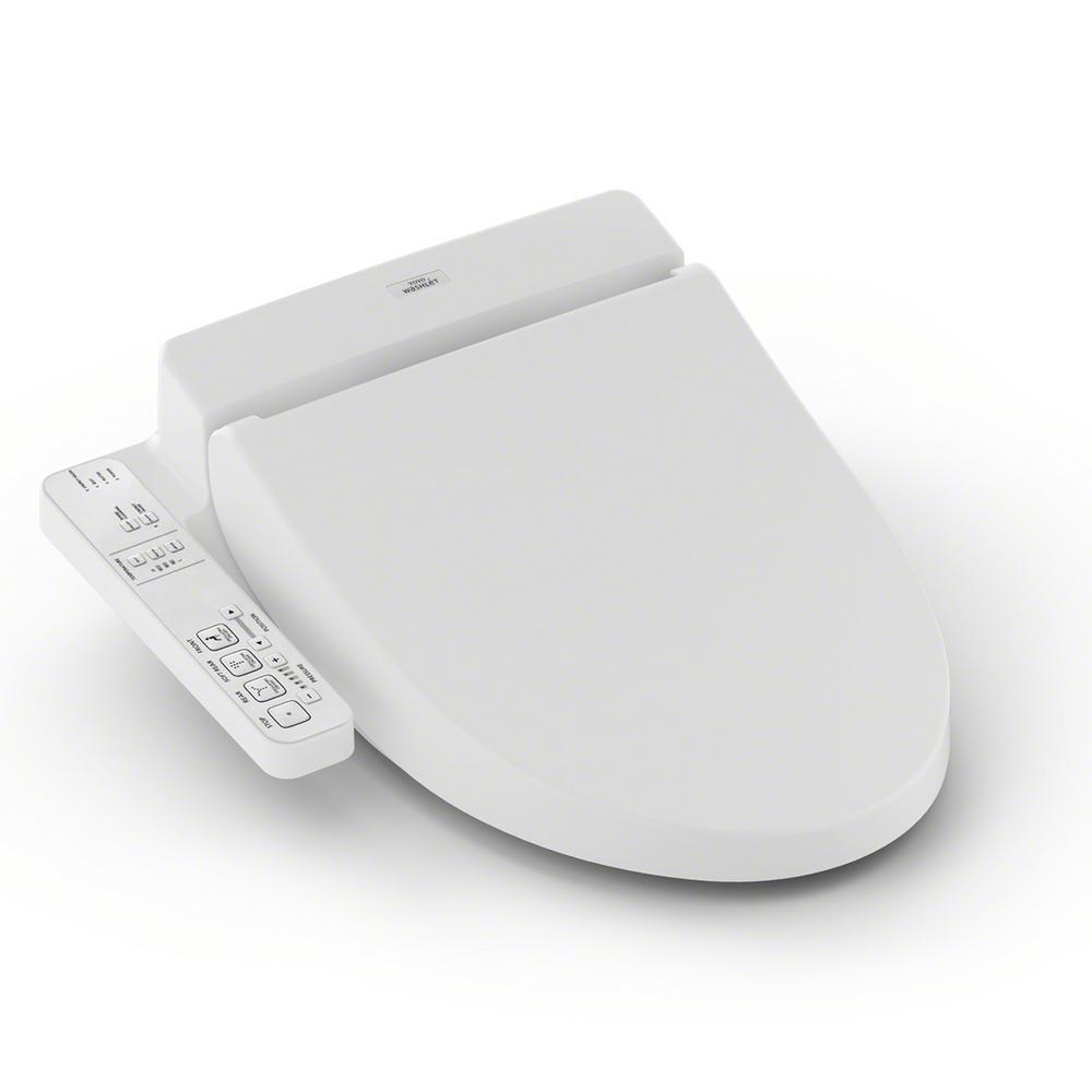 A100 Electric Bidet Seat for Elongated Toilet in Cotton White